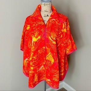 Vintage colorful cape size medium